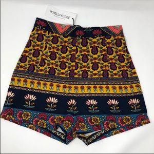NEW Novella Royale Hi-Waisted Printed Shorts